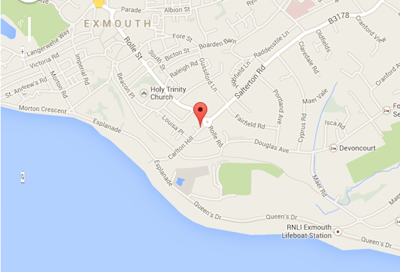 The Swallows B&B 4 minutes to the sea front and 10 minutes into Exmouth town centre
