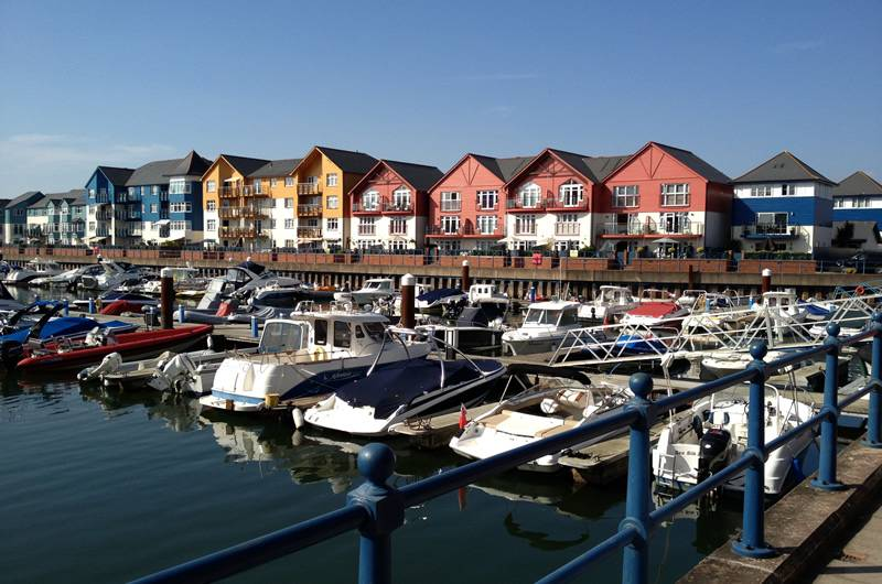 Exmouth marina in summer sunshine